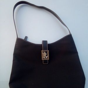 Ralph Lauren vintage basic black vinyl handbag